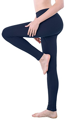 Thermo Leggings Blaue Baumwolle Leggins Push Up für Damen Bickdicht M L 104 104 (Leggings Baumwolle Thermo)