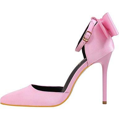Rosa festa stiletto Seta PLM e A pink Rosso Dorato Comoda donna Serata Innovativo Nero WSX Da Matrimonio Tacchi Grigio 4qH60