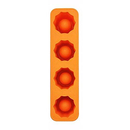 1Eiswürfelform Ice Tablett Sommer Trinken Werkzeug Ice Shot Glas S Orange (Orange Gläser Shot)
