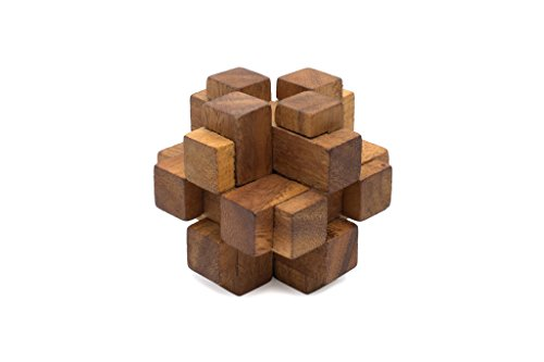 Preisvergleich Produktbild SiamMandalay®: Connection - Handmade Interlocking Wooden Burr Puzzle. A Mechanical Puzzle for Adults & an Engaging Educational Puzzle. Improve Iq with this 3d Brain Teaser