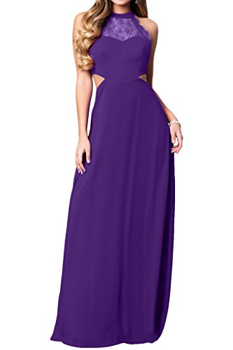 Prom Style Damen Attraktiv Spitze Chiffon Neckholer Abendkleider ...