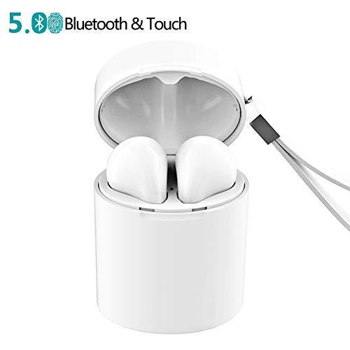 Wireless Bluetooth kopfhörer, V5.0 Bluetooth Drahtloser Ohrhörer Kopfhörer, Technologie mit Zwei Gehörgängen, Mikrofon und Ladebox -Telefone, unterstützt iOS oder Android andere Smartphones Centro-smartphone