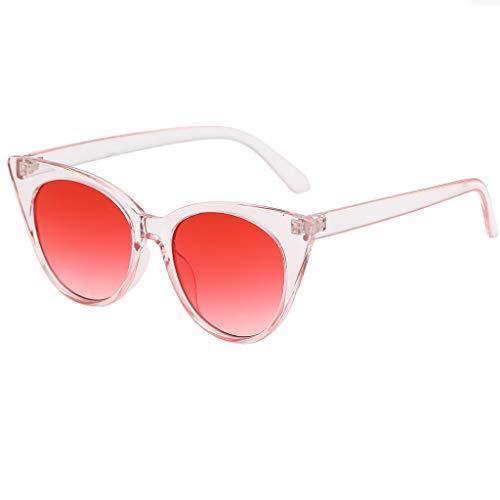 Battnot Sonnenbrille Damen Herren, Vintage Unisex Kleiner Rahmen Herz Sonnenbrille Mode Brillen für Männer Frauen Billig Glas-Weinlese-Retrostil Sunglasses Super Coole Travel Eyewear