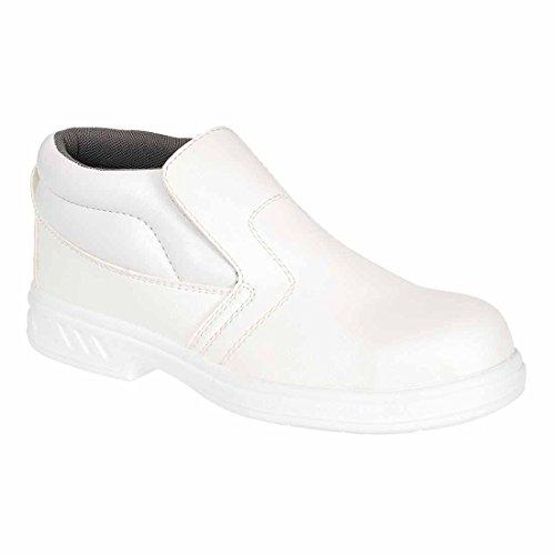 Portwest Fw83 Steelite™ Slip On Safety Boot S2 Uomo Nuovo Calzature Protettive Bianco