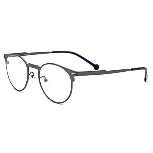 MINGMOU Brillengestell Aus Reinem Titan Ultraleichter Brillengestell Aus Reinem Titan Für Runde Herren- Und Damenmodelle Aus Reinem Titan, 1