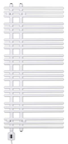 Handtuchheizkörper, elektrisch, elektro, 1300h x 500b, weiß, Heizpatrone mit Zeitschaltuhr, KTX-3, Badheizkörper