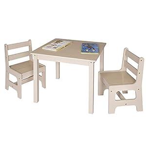 WOLTU 3tlg. Kindersitzgruppe Kindertisch mit 2 Stühle Sitzgruppe für Kinder Vorschüler Kindermöbel, SG001