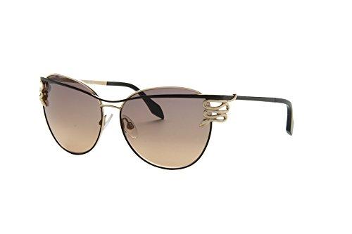 NEW Roberto Cavalli 722S 28B Gold Dark Brown Men Women Sunglasses