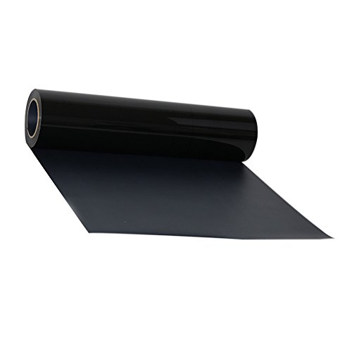 HOHO schwarz Poly HTV Garment Film Heat Transfer Vinyl Bügelbild Press Papier 50,8x 30,5cm