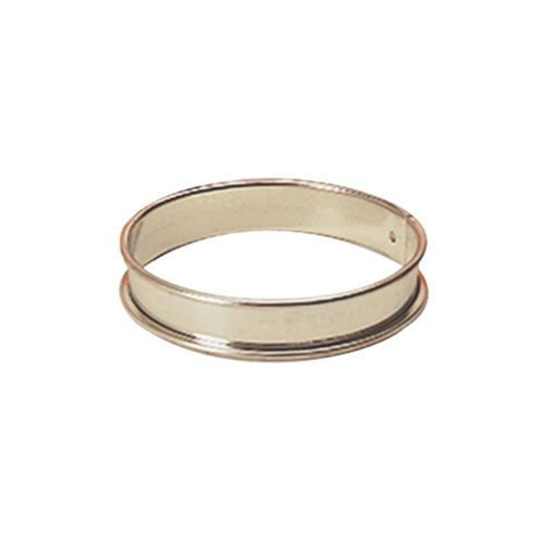 Paderno World Cuisine 9 1/2 Inch by 3/4 Inch Tart Pastry Ring by Paderno World Cuisine Tart Pastry Ring