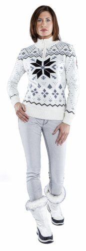 Nebulus Norska Sweat-shirt Femme Blanc
