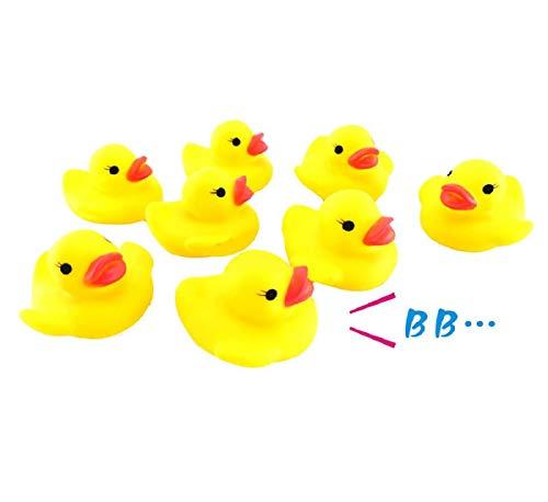 Koojawind 10 StÜCk Baby Bad Quetschen Gummispielzeug, Baby Badewanne Quetschen Anruf Gummiente Spielzeug, Baby Bad Dusche Geburtstag GefäLligkeiten, Kinder Jungen MäDchen (Für Baby Gefälligkeiten Jungen)