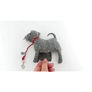 Kotbeutelspender Schnauzer, Filzhund, handgefilzte Hundefigur, Tasche für Gassitüten, Geschenk für Hundebesitzer, Hunde…