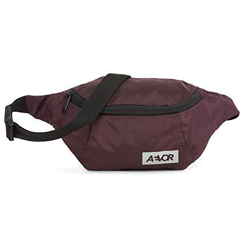 AEVOR Hip Bag - Smartphone Schnellzugriff, 2 Wege Zipper, 1l Volumen, wasserabweisend, Mesh-Innentasche, größenverstellbarer Gurt, Ripstop Ruby -