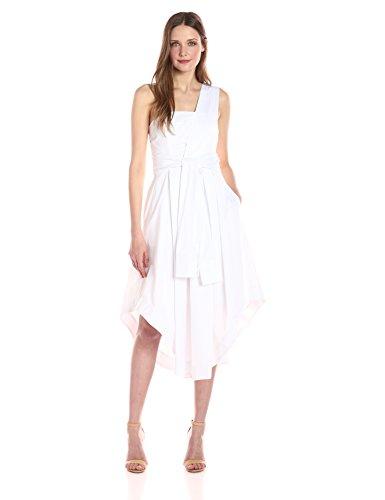 KENDALL + KYLIE Damen Wickelkleid mit Ärmeln - Weiß - Groß -