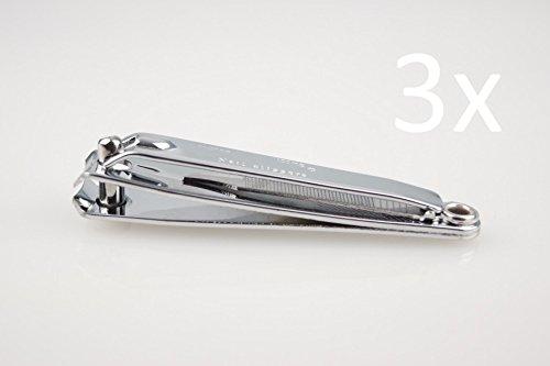 3 STÜCK CX Nagel-Knipser NagelKnipser/ große Ausführung 8cm/ inkl. ausklappbare Pfeile - Nagelreiniger/ high quality Stahl (verchromt)/ scharf & langlebig