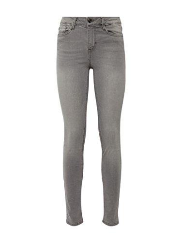 TOM TAILOR Denim Damen Skinny Jeans Nela Grey bleached light grey denim