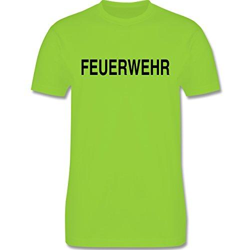 Feuerwehr - Feuerwehr Schriftzug - Herren Premium T-Shirt Hellgrün