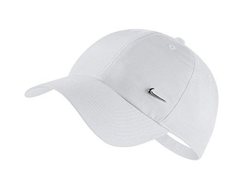Nike Erwachsene Sportswear Heritage86 Schirmmütze, weiß, One Size (Lauren Shop Ralph)