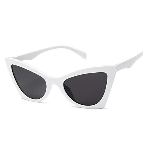 YLNJYJ Sonnenbrillen Frauen Cat Eye Sonnenbrillen Mode Retro Spiegel Sonnenbrille Klassische Shades Damen Rote Brille Trendy Brille Uv400
