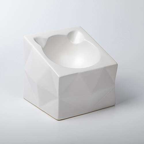 SZ-CWYP Pet Bowl Cat Bowl Keramik Katzenfutter Bowl Mode Katze Ohr Form flaches Gesicht Pet Cat Bowl,K
