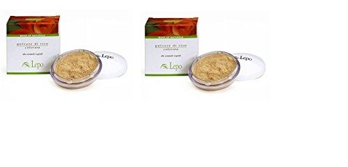 lepo-2-confezioni-di-polvere-di-riso-20-grammi-beige-opacizza-e-uniforma-il-colorito