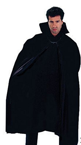 Fancy Ole - Herren Männer Halloween Karnevals-Kostüm Cape Nightmare Horror Dracula, Vampir, One Size, Schwarz