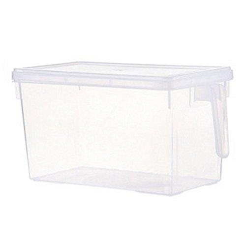 Dandeliondeme Küche Aufbewahrungsbox, Wasserdichte Seal-up Lagerung Lebensmittelbehälter Kühlschrank Crisper Case Tragegriff Box klar -
