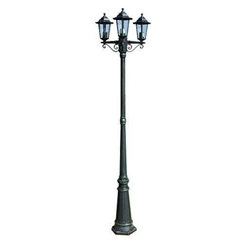 vidaXL Lampe d'Extérieur Triple Lampadaire Lampe de Jardin Éclairage de Jardin