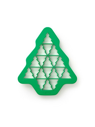 Lekue Keks-Puzzle Tannenbaum für 19 Stück, Plastik, grün, 23.5 x 27 x 1.5 cm
