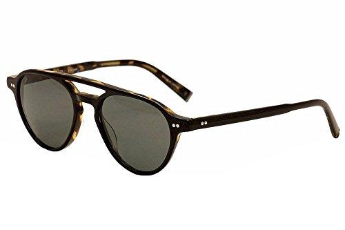 Rem eyewear John Varvatos Sonnenbrille Stecker schwarz Schildkröte mit Smoke Objektiv v603blt54