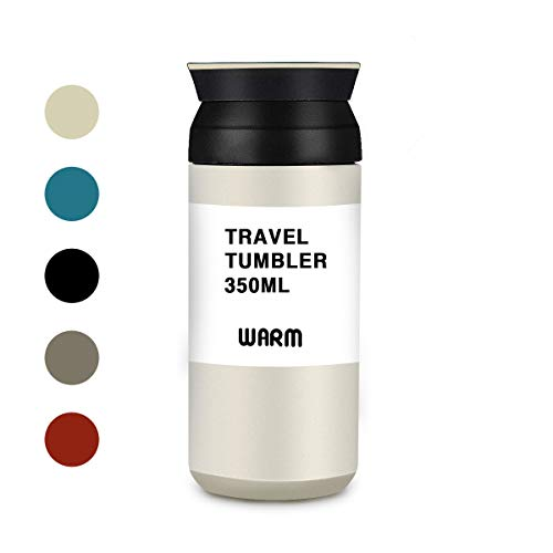 LIUMY Tazza Termica,Tazza per Caffe da Viaggio,350ml Bottiglia di Acciaio Inossidabile Thermos,Travel...