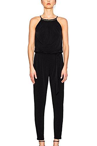 ESPRIT Collection Damen Jumpsuits 057EO1L002, , , , , Gr. 38 (Herstellergröße: 38), Schwarz (BLACK 001)