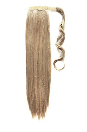 MapofBeauty lange gerades Haar-Extensions Warp mit Pferdeschwanz (Asche-blond)