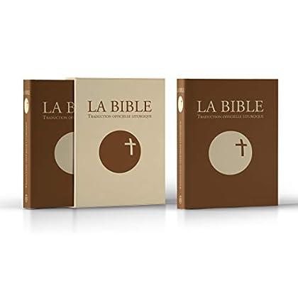 La Bible : traduction officielle liturgique : Edition cuir marron