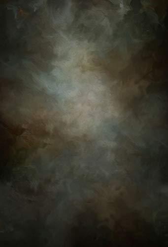WaW Dunkel Ölmalerei Abstrakt Stoff Hintergrund für Fotostudio Fotografie Kulisse Vintage Fotowand Hintergründe Hochzeit 2x2.9m - 2 X Stoff