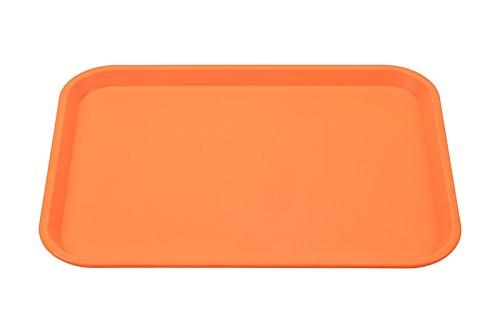 ier Tablett 45 x 35 cm, Farbe:Orange (Kunststoff Serviertablett)