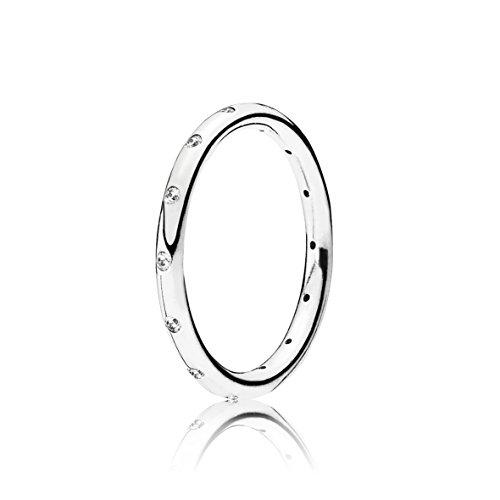 Pandora 190945CZ - Anillo de plata 925 con pequeñas circonitas de color blanco para mujer