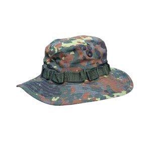 Commando Industries US Army Tropen Hut Boonie Hat Buschut Ripstop Schlapphut in verschiedenen Farben und Größen (Flecktarn, XL)