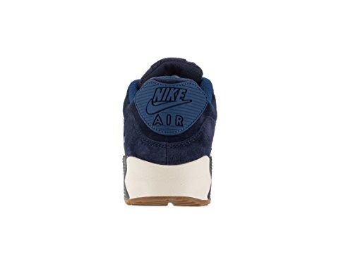 Nike W Air Max 90 Prm Suede, Chaussures de Sport Femme Bleu - Azul Marino (Mid Nvy / Mtlc Bl Dsk-Sl-Ghst Gr)