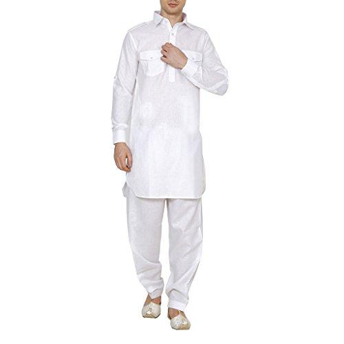 Royal Kurta Mens Linen Pathani Suit