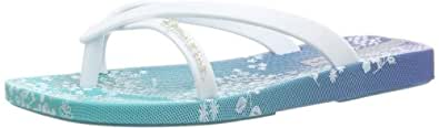 Ipanema Fashion Kirey 81205 Mädchen Zehentrenner, Blau (blue/white 21308), EU 34/35