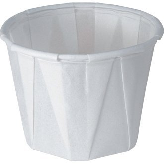 Sauce/Soufflé Dish Wax Paper - 28ml 1oz (Sleeve 250) - great for parties, bbqs, picnics and events (Pique-sauce)