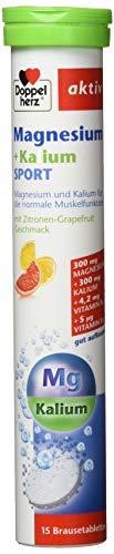 Doppelherz Magnesium + Kalium Brausetabletten - Zur Unterstützung der Muskeln und des Nervensystems auch beim Sport - 1 x 15 Brausetabletten