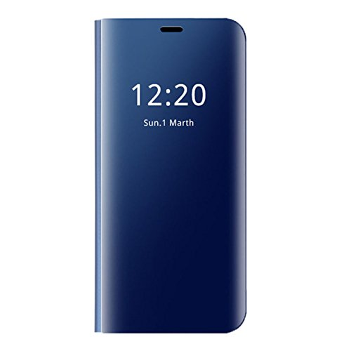 Zater Compatible with Huawei P20 Pro Hülle, P20 Pro SchutzHülle Flip smart View Handy Case mit Standfunktion Card HandyHülle für  Huawei P20 Pro (Blau, Huawei P20 Pro)