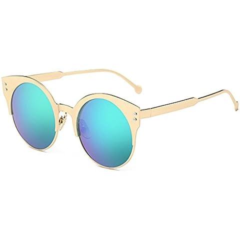 Vollter Moda retro mujeres forman el espejo de la lente gafas de sol de los vidrios