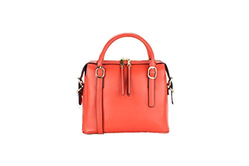Signore Di Cuoio Borsa Multicolore Orange