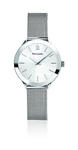 Pierre Lannier - 049C618 - Week-End Ligne Pure - Montre Femme - Quartz Analogique - Cadran Argent - Bracelet Acier Argent