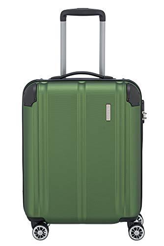 """Travelite Leicht, flexibel, sicher: \""""City\""""-Hartschalenkoffer für Urlaub und Business (auch mit Vortasche) Koffer, 55 cm, 40 Liter, Grün"""