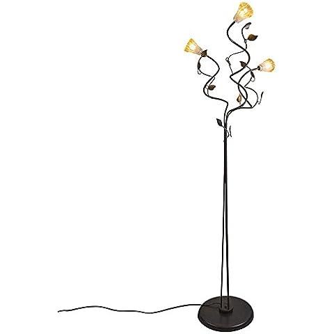 QAZQA Clásico/Antiguo,Rústico Lámpara de pie VEDELAGO 3 marrón envejecido Metal Orgánica / Adecuado para LED G9 Max. 3 x 40 Watt